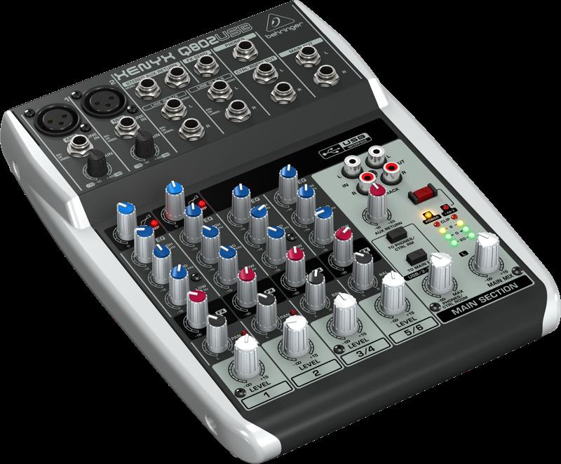 Behringer 8 Input 2 Bus Mixer W Usb Audio Interface Long