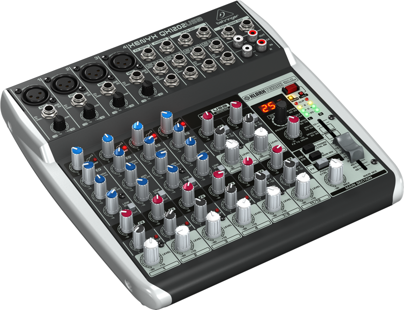 Behringer 12 Input 2 BUS Mixer W USB Audio Interface And Multi FX Processor
