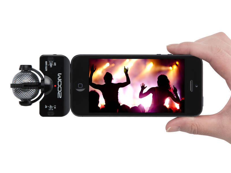 Zoom Professional Stereo Mic For Iphone Ipad Ipod Black