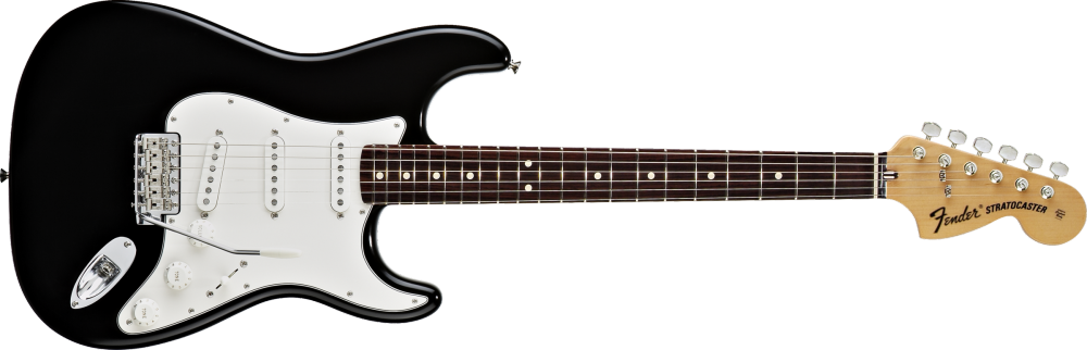 fender classic series 39 70s stratocaster electric guitar rosewood fingerboard black long. Black Bedroom Furniture Sets. Home Design Ideas