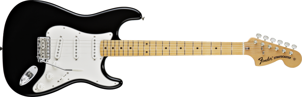 fender classic series 39 70s stratocaster electric guitar maple fingerboard black long. Black Bedroom Furniture Sets. Home Design Ideas