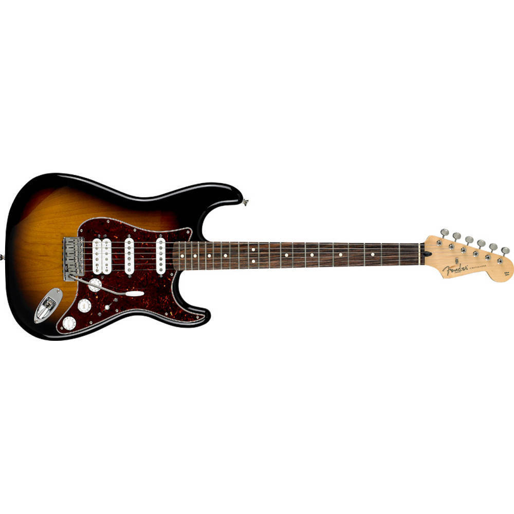 fender deluxe power stratocaster electric guitar 2 colour sunburst long mcquade musical. Black Bedroom Furniture Sets. Home Design Ideas