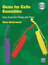 Gems For Cello Ensembles - Butterworth - Cello - Book/CD
