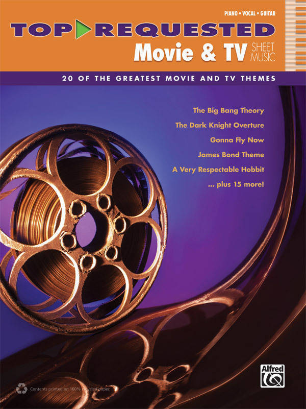 Alfred Publishing Top Requested Movie Tv Sheet Music Pianovocal