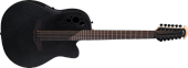 Ovation - Elite TX 12 String Deep Cutaway Acoustic/Electric - Black