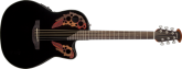 Ovation - Celebrity Elite Mid Depth Acoustic/Electric - Black