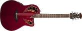 Ovation - Celebrity Elite Mid Depth Acoustic/Electric - Ruby Red