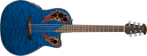 Ovation - Celebrity Elite+ Mid Depth Acoustic/Electric - Trans Blue Quilted Maple