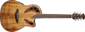 Ovation - Celebrity Elite+ Mid Depth Acoustic/Electric - Figured Koa