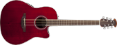 Ovation - Celebrity Standard Mid Depth Acoustic/Electric - Ruby Red