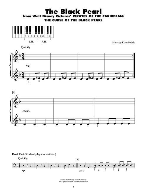 Pirates of the Caribbean: Five Finger Piano Songbook