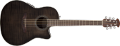 Ovation - Celebrity Standard Plus Mid Depth Acoustic/Electric - Trans Black Flame Maple