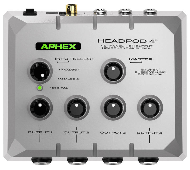 837f5204665 Aphex 4 Channel High Output Headphone Amplifier - Long & McQuade Musical  Instruments