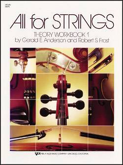 All For Strings Theory Workbook 1 - Violin