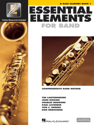 Essential Elements for Band Book 1 - Bass Clarinet - Book/Media Online (EEi)
