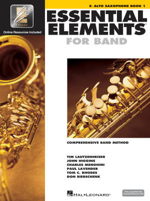 Essential Elements for Band Book 1 - Alto Saxophone - Book/Media Online (EEi)
