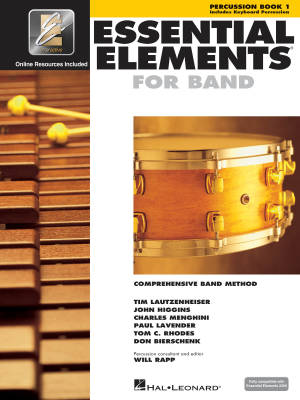 Essential Elements for Band Book 1 - Percussion - Book/Media Online (EEi)