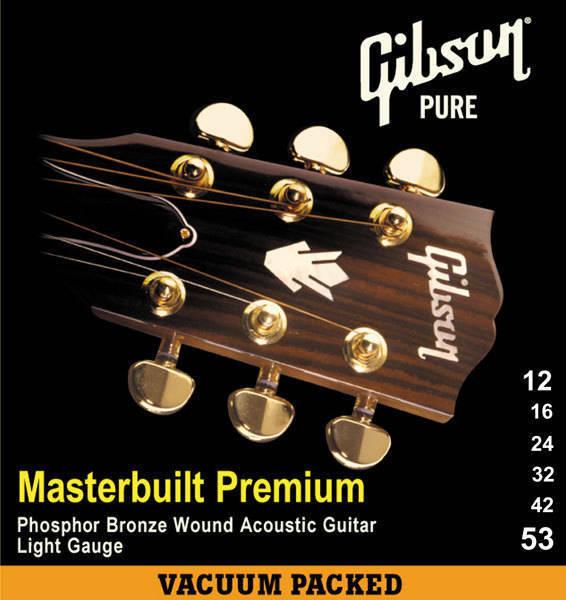 gibson masterbuilt phosphor bronze light acoustic strings 10 47 long mcquade musical. Black Bedroom Furniture Sets. Home Design Ideas