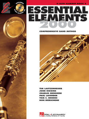 Essential Elements 2000 Book 2 - Alto Clarinet - Book/Media Online (EEi)
