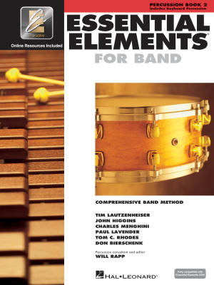 Essential Elements for Band Book 2 - Percussion - Book/Media Online (EEi)