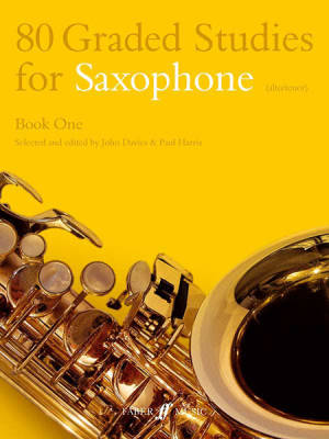 80 Graded Studies for Saxophone, Book One - Davies/Harris - Book
