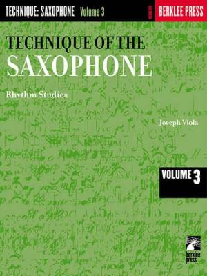 Technique of the Saxophone - Volume 3