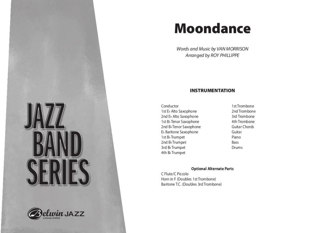 Belwin Moondance - Morrison/Phillippe - Jazz Ensemble - Gr. 3 - Long ...