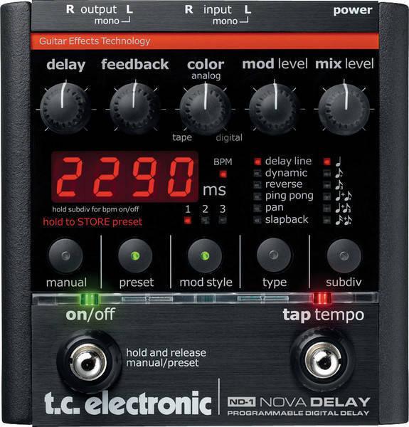 tc electronic nova delay pedal long mcquade musical instruments. Black Bedroom Furniture Sets. Home Design Ideas