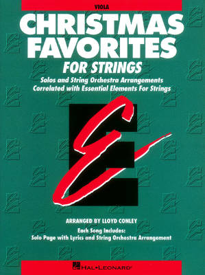 Essential Elements Christmas Favorites for Strings - Conley - Viola - Book