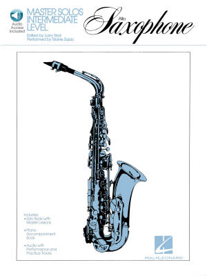 Master Solos Intermediate Level: Alto Sax - Teal/Rutherford - Book/Audio Online
