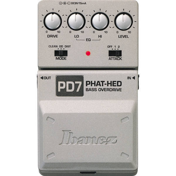 ibanez pd7 phat head bass overdrive distortion long mcquade musical instruments. Black Bedroom Furniture Sets. Home Design Ideas