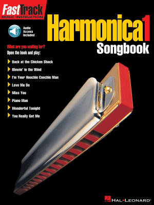 FastTrack Harmonica Songbook Level 1 - Book/Audio Online