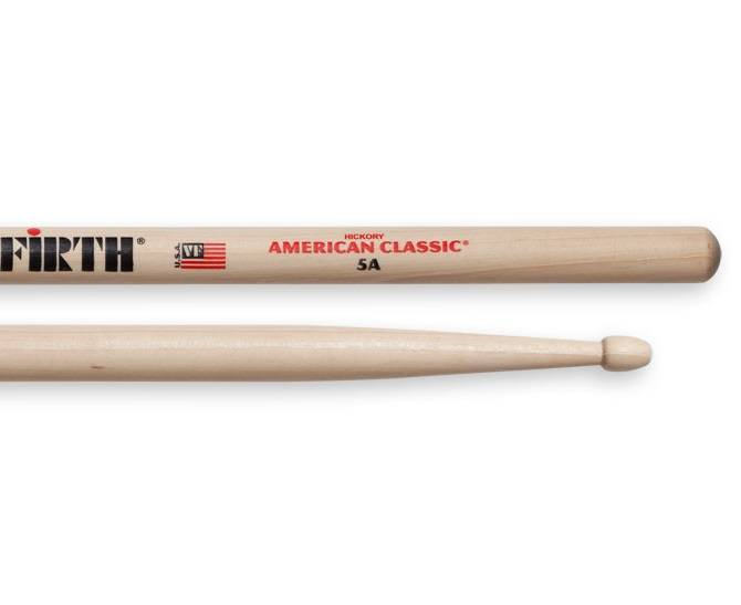 vic firth 5a american classic hickory wood tip long mcquade musical instruments. Black Bedroom Furniture Sets. Home Design Ideas