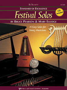 Standard of Excellence: Festival Solos, Book 1 - Pearson/Elledge - Trumpet - Book/CD
