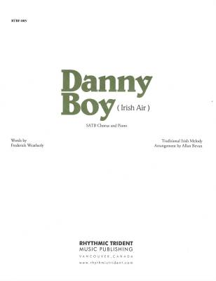 Danny Boy - Irish/Weatherly/Bevan - SATB