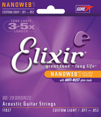 Nano Web 11-52 Custom Light Acoustic Strings
