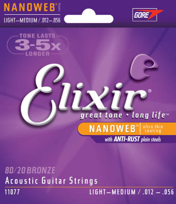 Nano Web 12-56 Light/Medium Acoustic Strings