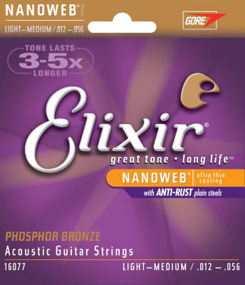 NANOWEB Phospher Bronze 12-56 Light/Medium Acoustic Strings