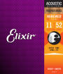 Elixir Strings - NANOWEB Phospher Bronze 11-52 Custom Light Acoustic Strings