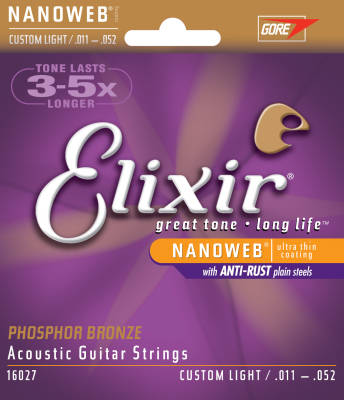 NANOWEB Phospher Bronze 11-52 Custom Light Acoustic Strings
