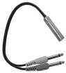Link Audio - Link Audio 1/4 Mono-F  to 2x 1/4 Mono-M Y-Cable