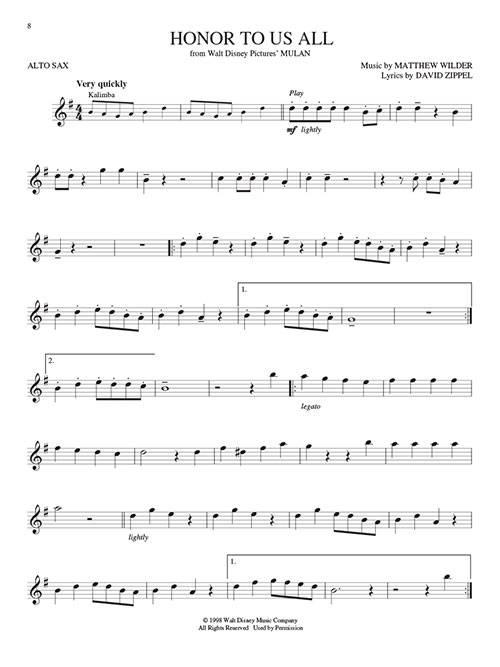Hal Leonard Disney Greats For Alto Sax Instrumental Play Along