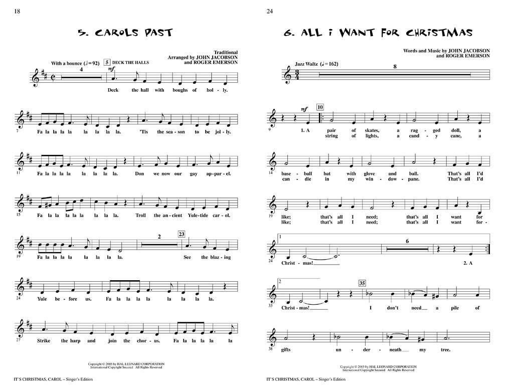 Hal Leonard It\'s Christmas, Carol! (Musical) - Emerson/Jacobson ...