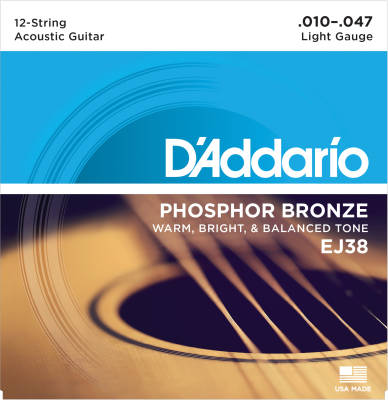 EJ38 - Phosphor Bronze 12-String Light 10-47