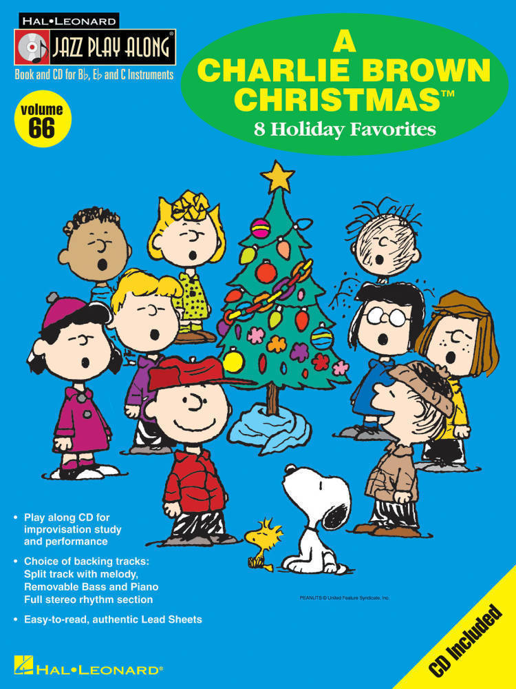 A Charlie Brown Christmas Book.Hal Leonard A Charlie Brown Christmas Jazz Play Along Volume 66 Book Cd