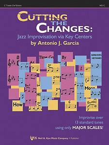 Cutting the Changes: Improvising Via Key Centers - C Treble Edition
