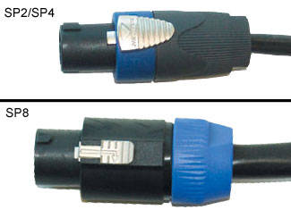 DLX Series SP4 to SP4 14G Speaker Cable - 5 foot