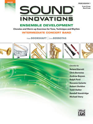 Sound Innovations for Concert Band: Ensemble Development for Intermediate Concert Band - Percussion 1 - Book