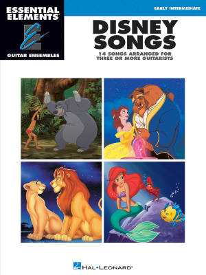Disney Songs: Essential Elements Guitar Ensembles - Book