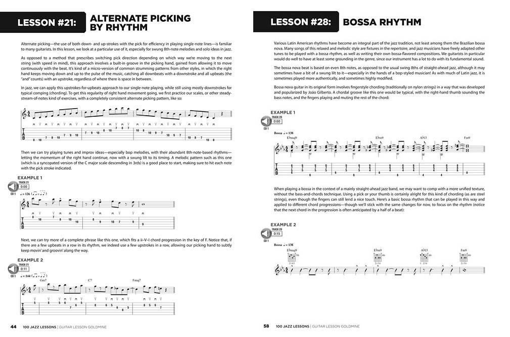 100 Jazz Lessons - Heussenstamm/Silbergleit - Guitar TAB - Book/Audio Online
